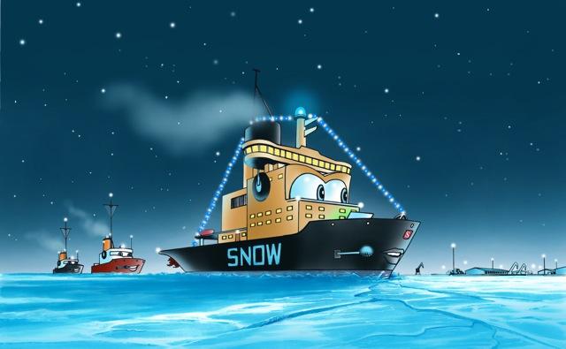 Snow in mare.