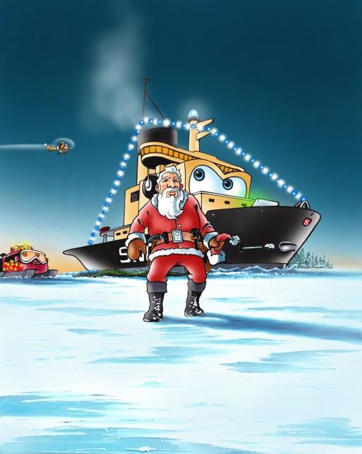 Snow con l'immancabile Babbo Natale.
